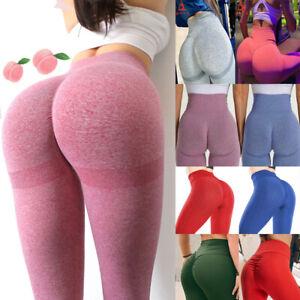 Women High-Waist Yoga Pants Anti-Cellulite Leggings Workout Compression Elastic
