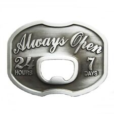 Belt Buckle Belt closure with Bottle Opener Always Open 24 hours