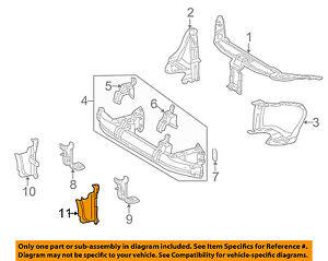 Mercedes MERCEDES-BENZ OEM S500 Radiator Core Support-Baffle Left 2206280398
