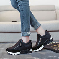 Side Zipper Shallow Muffin Thick Sole Single Shoes S