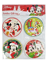 8pk Jumbo Disney Mickey & Minnie Mouse Xmas Christmas Present Gift Tags