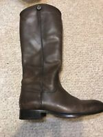 FRYE Melissa Button 2 Women's Size 8.5 Smoke Grey Leather Riding Boots FB-50*