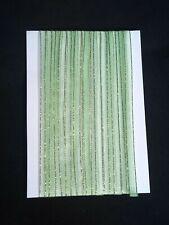 5M 6mm Thin Green Gold Edged Organza Ribbon Trim Card Making Scrapbooking Home