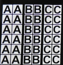 CAPITAL LETTERS ARIAL BOLD  House office bin vinyl stickers Decals weatherproof