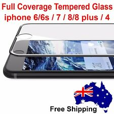 3D Full Coverage cover Tempered Glass Screen Protector For iphone 8/8 plus 7 6 4