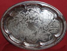Vintage Ornate floral Metal Serving Tray