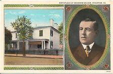 Birthplace of Woodrow Wilson in Staunton Va Postcard