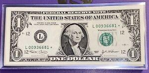 ⭐️1 CONSEC $1⭐️STAR NOTE⭐️(VERY RARE) FANCY# GEM UNCIRCULATED 2003 L SAN FRAN D
