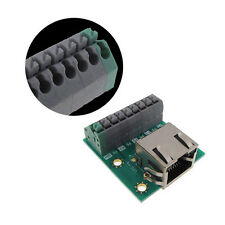 RJ45 Ethernet Breakout Board Screwless Terminal with Indicator LED Spring