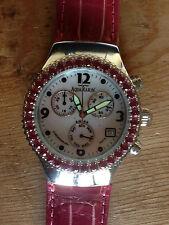 Nuevo - Reloj Watch Montre AQUAMARIN - Steel Acero with Tourmaline - With Box