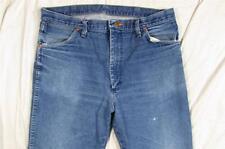 Wrangler 13MWZ Denim Jeans Dark Color Hige Tag Size 36x32 Measure 35x31.5 Cowboy
