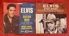 2 Elvis Presley 45 Records Guitar Man/High Heel Sneakers Stay Away / US Mail VG