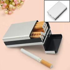 Viaje Aluminio Pitillera Caja Estuche para 20 Librillos Cigarrillos Cigarros