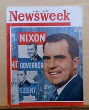 Newsweek magazine - Oct. 9, 1961 - Richard Nixon cover - World Series w/ Yankees