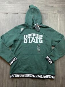 🆕 Mens Nike Michigan State Spartans Basketball Hoodie RARE 2XL $80