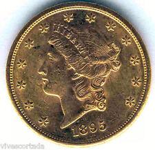 20 Dolares U.S.A. oro 1895 San Francisco @@ Liberty @@ Excelente @@ EBC @@