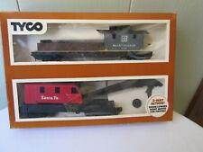 Tyco Operating Crane Car with Boom Tender 932:800 in Box Ho scale, Santa Fe
