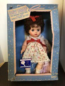 "Adorable 15"" Uneeda Brunette DEWDROP Doll Vintage 1960's NRFB MINT In Box"