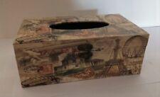 Titular de la caja de tejido Vintage Paris