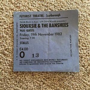 Siouxsie & Banshees ticket Scarborough 19 November 1982 #O13