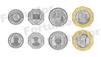 SIERRA LEONE SET OF 4 COINS, 10 50 100 500 LEONES, 1996 2004, UNC, BIMETAL