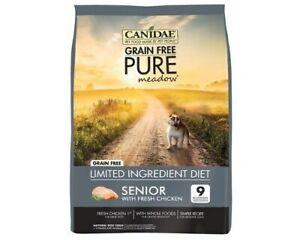 Canidae Senior Grain Free Pure Meadow Dry Dog Food Fresh Chicken 5.44kg