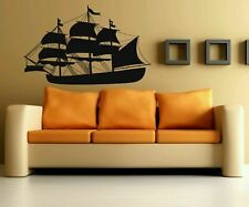 Great Gift Wall Vinyl Sticker Decals Mural Awesome Pirate Ship Sea Ocean #346