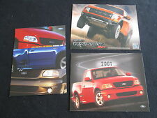 2001 2004 2010 Ford Lighting F-150 SVT Raptor Sheet Brochure Set