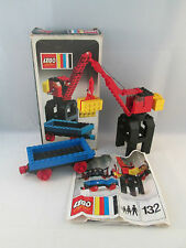 Lego Train 4.5V - 132 Port Crane and Flat Waggon