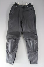 IXS BLACK LEATHER BIKER TROUSERS WITH REMOVABLE CE PROTECTORS:WAIST 28/I LEG 29""