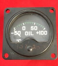 Vintage Aircraft oil pressure Gauge 6A/2238 Air Ministry Markings