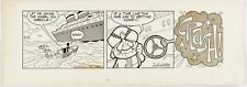 Rocky and Bullwinkle Original Ink Daily Comic Strip Art signed Al Kilgore 1963