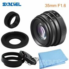 35mm F1.6 CCTV TV Movie lens+Lens Hood kit For Canon EOS M M1 M2 M3 M5 M6 M10