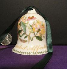 "Vintage Bells for a colection, Devoted Affection, Honeysuckle 2002 2 1/2"" Tall"