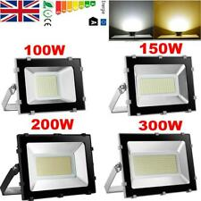 LED Floodlight Outdoor Garden 100W 150W 200W 300W  Warm/Cool Flood light UK
