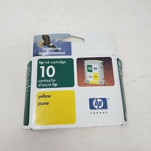 HP 10 2000c 2500c Yellow Ink Cartridge New Sealed Genuine Original Expired