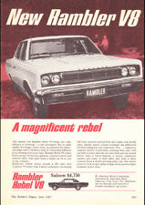 """1967 RAMBLER REBEL V8 AMC AD A1 CANVAS PRINT POSTER 33.1""""x23.4"""""""