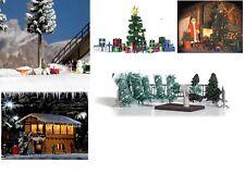 Busch H0 Winter Season and Christmas Gifts Trees Equipment Rail Dioramas Scenics