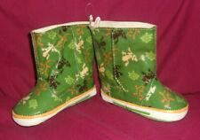 Frog Froggy Rainboots Little Girls Size 3 Green Rain Boots Galoshes New Splash