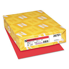 NEENAH PAPER Exact Brights Paper 8 1/2 x 11 Bright Red 50lb 500 Sheets 26751