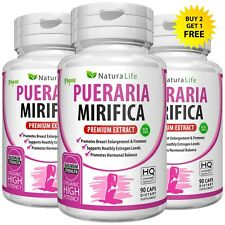 90 PURE PUERARIA MIRIFICA PILLS 5000mg Extract BUST BREAST ENLARGEMENT CAPSULES