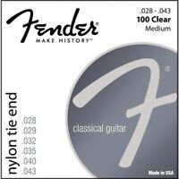 3 Jeux de cordes FENDER 100clear - nylon- 028/043 - 0730100300-guitare classique