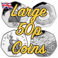 Old Rare and Commemorative 50p Coins 1969 - 1996 Large Size 50 pence Coins