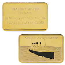 Commemorative Coins Golden Collection For Souvenir  Tragedy Of The Titanic 1912