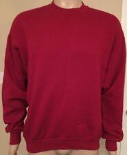 VTG Jerzees Blank Crewneck Red MENS XL Soft NUBLEND USA Made Sweatshirt 90s