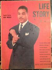 1950s Joe Louis Life Story Tabloid Size Booklet from Joe Louis Punch