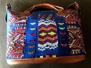 Large huipil travelbag, tote huipil bag, boho handmade bag