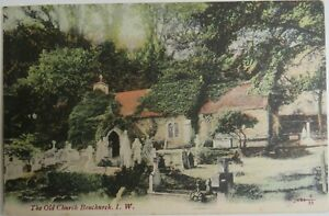 Old Postcard Of The Old Church Bonchurch Isle of Wight 1903
