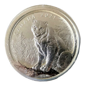 "CANADA 2021 $50 ""Multilayered Cougar"" Pure Silver Coin"