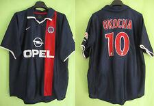 Maillot PSG Paris Saint Germain 2001 Okocha #10 OPEL Nike Vintage - L